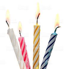 Burning Birthday Candle Cake Isolated White Background royalty free stock photo