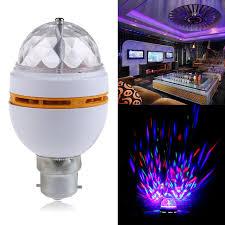 newest b22 3w rgb rotating led stage light bulbs