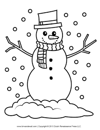 Snowman Pictures To Color