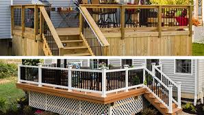 Deck Designs Wood Deck and posite Deck