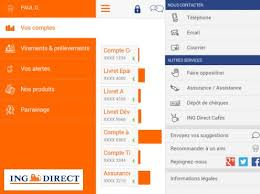 ing direct sa nouvelle application bancaire