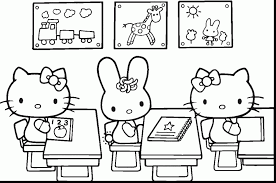 Awesome Hello Kitty School Coloring Pages With Halloween And