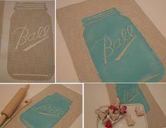 Personalized Mason Jar Kitchen Towels