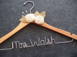 RUSTIC Wedding Dress Hanger Bridal With By LynnClaire 3700