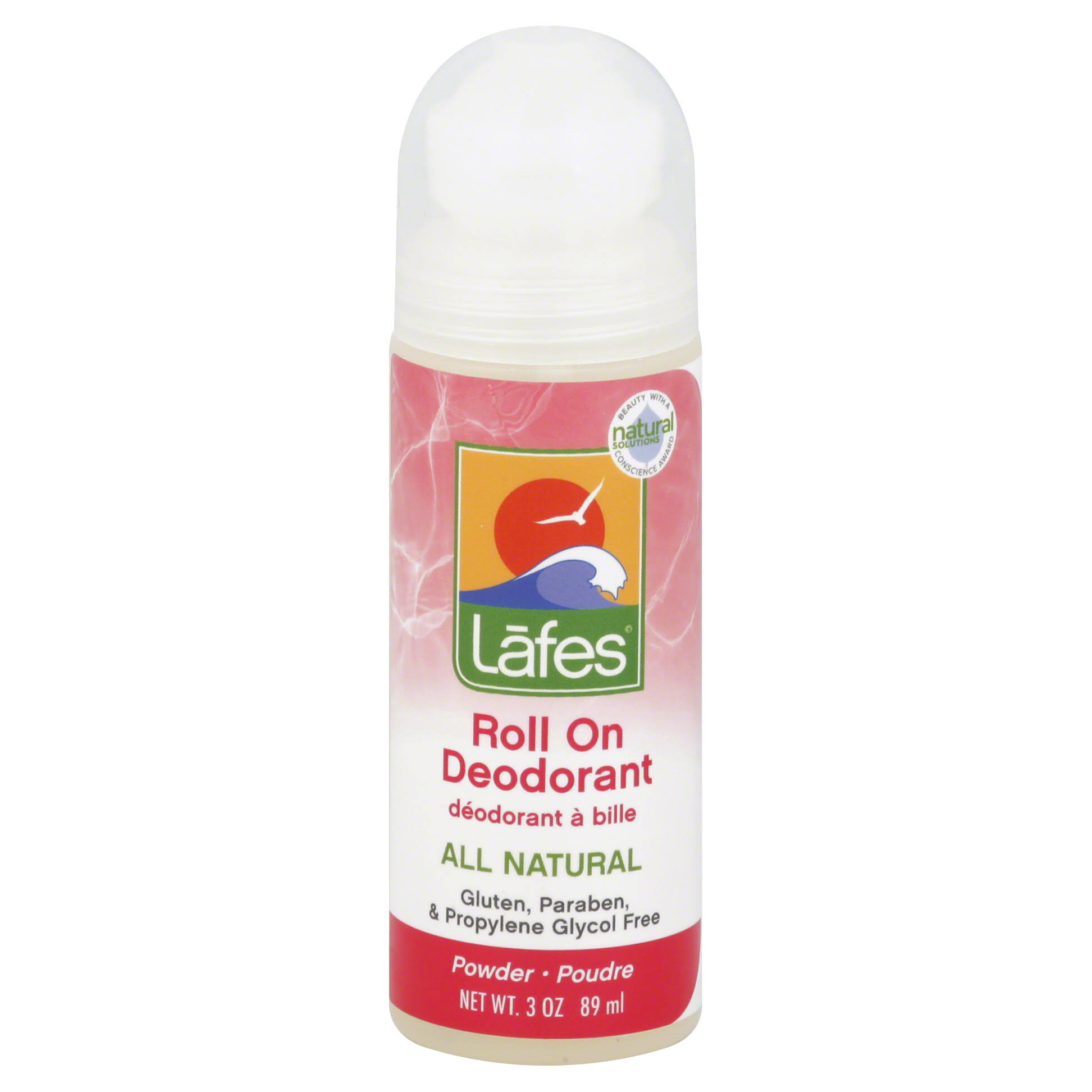 Lafe's Natural and Organic Roll On Deodorant Powder Scent
