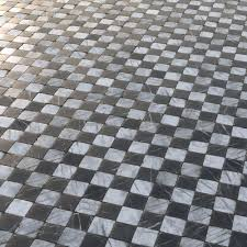 Aged Marble Black And White Chequered Tiles 3d Model Tga 1