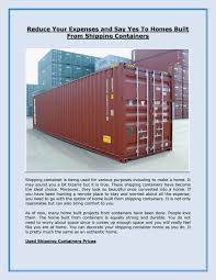 100 Cargo Container Prices Reduce Your Expenses And Say Yes To Homes Built From Shipping