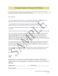 Parental Consent Permission Letter Template Sample Of Permission