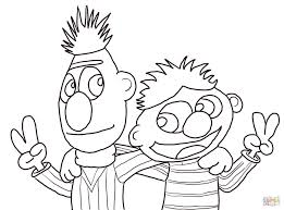 Cartoons Click The Cool Bert And Ernie Coloring Pages To View Printable Version Or Color
