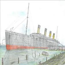 Roblox Rms Olympic Sinking by My Drawing Of Titanic Being Built Roblox