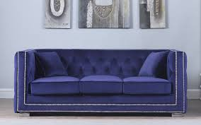 Tufted Velvet Sofa Furniture by Moliere Tufted Velvet Sofa With Nailhead Trim Sofamania Com