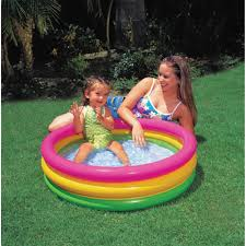 Inflatable Bath For Toddlers by Intex Sunset Glow Baby Pool Walmart Com