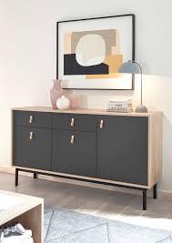 sideboard sven 154cm jackson hickory grau kommode wohnzimmer modern
