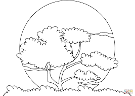 Click The Sunset Sun Coloring Pages To View Printable