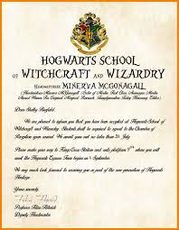 HARRY POTTER HOGWARTS ACCEPTANCE LETTER PERSONALISED GIFT FREE