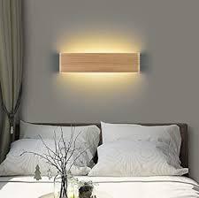 martll wandleuchte led holz wandle innen wandbeleuchtung für schlafzimmer flur korridor treppe wohnzimmer innenbeleuchtung warmweiß nachtlicht