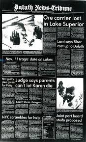 the wreck of the edmund fitzgerald 1975 news tribune attic