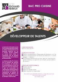 bac pro cuisine bac pro cuisine lycée edouard herriot