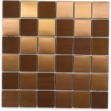 Copper Tiles For Backsplash by Splashback Tile Metal Copper 2 In Squares 12 In X 12 In X 8 Mm