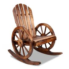 Outdoor Wooden Wagon Wheels Rocking Chairs [Brown]   HazzaOnline Rocking Chairs On Rock Island Lake Nicaragua Stock Image Chair For Beanbag Fatboy That Get The Most Of Your Outdoor Space With Right Better Homes Gardens Ridgely Slat Back Mahogany Ages Steemit On Chairs Front Porch Are Part Americana Best Rated In Patio Helpful Customer Reviews Replica Grant Featherston Hampton Bay White Wood Chair1200w The Home Depot Gaming Rocker For Gamer In Life Review Geek Chair Fxible Classroom 4 Reasons To Totally Rock Rocking