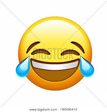 Emoji Yellow Face Lol Laugh And Crying Tear Icon