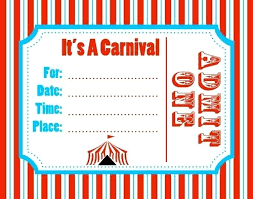 Download Now Free Carnival Birthday Invitations Templates Printables