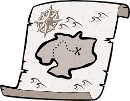 Treasure Map Clipart Black And White