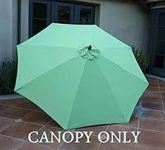 Hampton Bay Patio Umbrella Replacement Canopy by Amazon Com Replacement Umbrella Canopy For 9ft 8 Ribs Lime