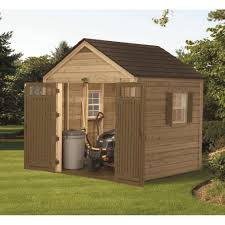 Suncast Horizontal Storage Shed 32 Cu Ft by Furniture Chic Suncast Storage Shed In Espresso For Outdoor
