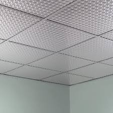 Fasade Ceiling Tiles Home Depot by Fasade Diamond Plate Revealed Edge Brushed Aluminum 2 Foot Square