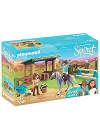 playmobil 70119 spirit free reitplatz mit lucky und javier
