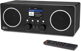digital wifi dab fm stereo radio wr280s with bluetooth receiver remote app aux in line out upnp dlna wooden casing 2 8