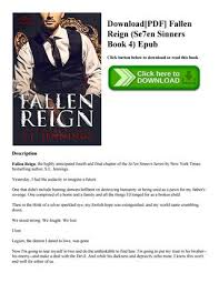 DownloadPDF Fallen Reign Se7en Sinners Book 4 Epub Click Button Below To Download Or Read This