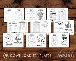 WEDDING COLORING Book Kid Activity Childrens Page By Wowwowmeow