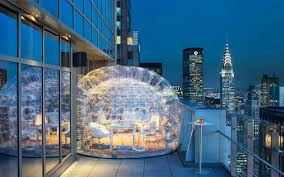 Drink Inside A Bubble At The Highest Rooftop Hotel Bar In NYC ... Best 25 New York Rooftop Ideas On Pinterest Rooftop Nyc Bars In Nyc Open During The Winter Nycs 10 Bars Huffpost To Explore This Summer Photos Architectural Unique 15 York City Cond Nast Traveler Heres A Map Of All Best 8 Cnn Travel Escape Freezing Weather Weekend Nycs Enclosed