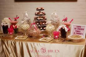 Candy Table With Cupcake Stand