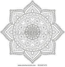 Flower Mandala Vintage Decorative Elements Oriental Pattern Vector Illustration Islam Arabic PatternFlower MandalaColoring Book