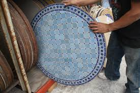 decorative mosaic tile table moroccan furniture los angeles