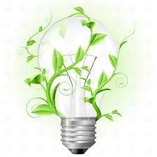 Light bulb twisted with plant Royalty Free Vector Clip Art Image