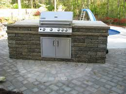 Kitchen Outdoor Kitchen Kits Patio With Stainless Steel Barbeque