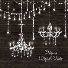 OriginsDigitalCurio Chandeliers And String Lights Vector Clipart By