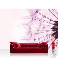 vlies fototapete no 1315 blumen tapete pusteblume löwenzahn natur blume rosa