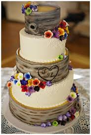 Cute Blue Country Wedding Cake Pictures