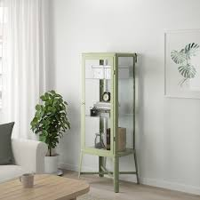 fabrikör vitrine blasses graugrün 57x150 cm ikea österreich