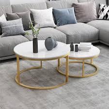 nordischer stil couchtisch gold metall weiß marmor