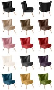 sessel sitzmöbel stuhl retrosessel retro stil bunt farbig verlours samtig lanatura