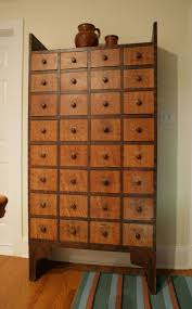 Grain Painted and Decorated Thirty Two Drawer Apothecary Chest