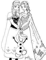 Free Frozen Printable Coloring Pages Corresponsablesco