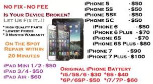 Glass Repairs iphone 6 $59 iphone 7 $129 Cheapest in Adelaide