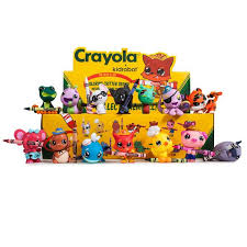 Kidrobot X Crayola Coloring Critters Mini Figure Display Case